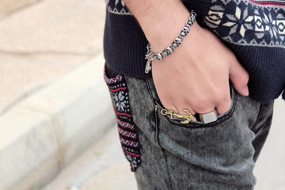 bransoletki męskie na ręce